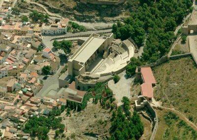 Pabellón de visitas, información y venta de entradas para el teatro romano y castillo de Sagunto